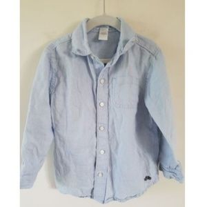 Janie & Jack 100% Linen Button Down Shirt